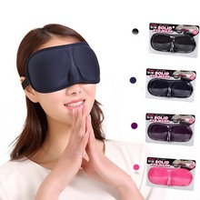 3D Draagbare Soft Travel Sleep Rest Aid Oogmasker Cover Eye Patch Slaapmasker Case