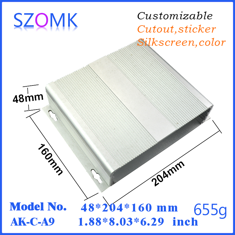 1 piece free shipping aluminum project box enclosure for industrial cabinet metal housing 48x204x160mm<br>