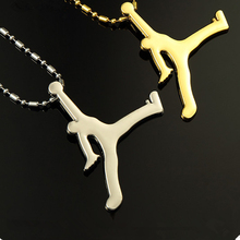 Jordan necklace Hip-hop hip hop necklace fashion basketball silver gold pendant jewelry long chain jewelry men women necklace
