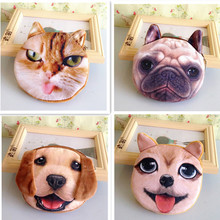 women casual coin purse high quality plush dog purses fashion card holder ladies small handmade cloth bags children wallet(China)