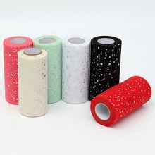 Best Price 25 Yards Fabric Patchwork Sewing Accessories Textile Sequin Tulle Roll Dress Apparel Organza Cloth DIY Craft Material