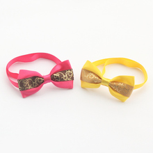 60 Pcs/Lot Armi store Handmade Glitter Ribbon pattern fashion Dogs Bow Ties Dog Tie 6031034 Pet Collar Accessories Wholesale(China)