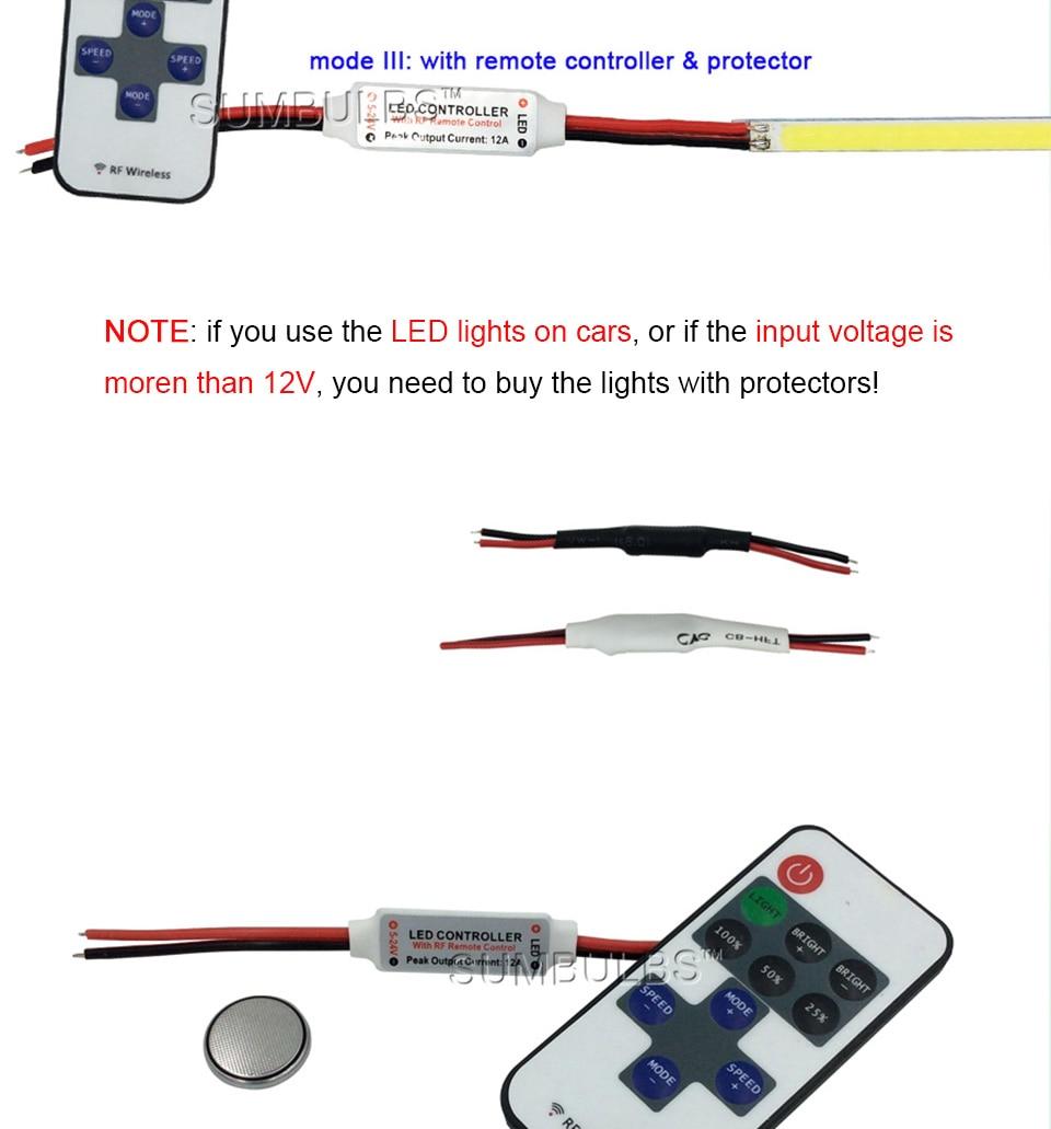 dc 12v 10w 20w 60cm 40cm 30cm 20cm cob led strip car light (8)