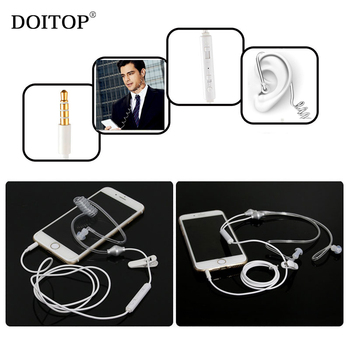 DOITOP Universal 3.5mm Anti-Radiation Sport Music Business Earphone Noise Cancelling Stereo In-Ear Earbuds Headphone with Mic O5