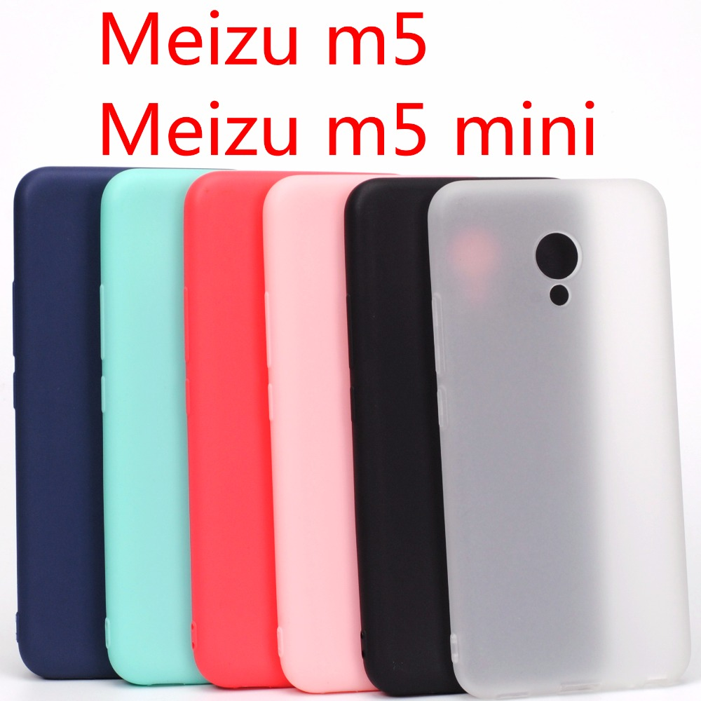 Meizu m5 case Meizu m5 mini case Cover Silicone TPU case for Meizu m5 mini Ultra thin Crystal colors Soft(China)