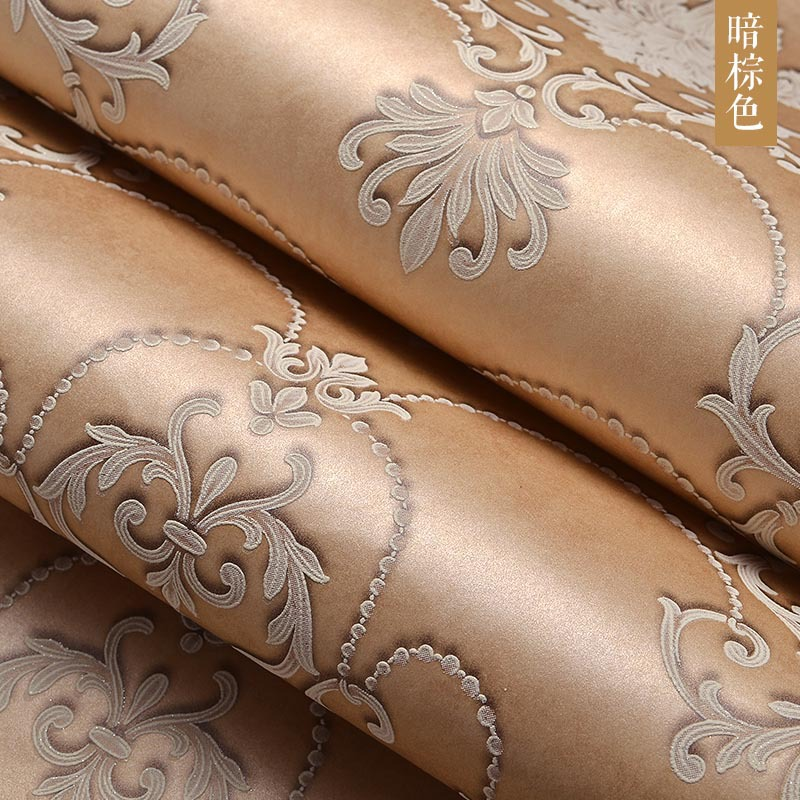 European Style 3d Embossed Relief Nonwoven Living Room Tv Backdrop Wallpaper Wall Papers Home Decor Wallpaper For Walls Roll<br>