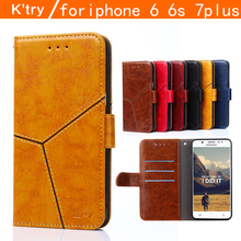K'try Luxury Ultrathin Flip Leather Phone Case For Apple iPhone 6 6s 7 Wallet Holster Back Cover Bag For iPhone 7 6 6S Plus