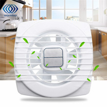 1Pcs 4 inch 12W 220V White Mini Exhaust Fan Ventilation Blower Window Wall Kitchen Bathroom Toilet Fan Hole Size 105x105mm(China)