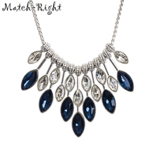 Match-Right Women Maxi Necklaces & Pendants Statement Long Choker Rhinestone Necklace with Pendant for Women Jewelry YJZ-8020