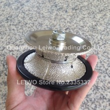 Vacuum Brazed V30 Full Bullnose Router Bit Diamond Profiling Wheel for Hand Tools Marble Limestone Soft Granite Wet or Dry