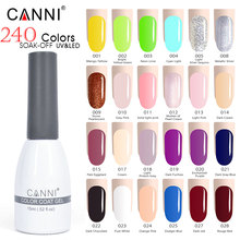 001-028 CANNI Factory Long-lasting gel polish uv glitter bling 258 Color Soak Off UV/ LED Nail Gel led nail gel polish 15ml(China)