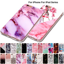 B02 Marble Soft Tpu Skin Shell Case For iPhone X 8 7 6 6S Plus 5C 5 5S SE 4 4S Silicone Stone Texture Cover For iPod Touch 6 5(China)