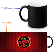 True Blood Magic Mug Custom Photo Heat Color Changing Morph Mug 350ml/12oz Coffee Mug Beer Milk Mug Halloween Gift