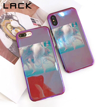 LACK Retro Blu Ray Phone Case For iphone X Case For iphone 6S 6 7 8 Plus Cases Fashion Funny Nordic Abstract Oil Painting Cover(China)