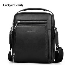 LUCKYER BEAUTY Brand Genuine Leather Men's Shoulder Bags Messenger Men Bags Crossbody Bags For Men Casual Handbags High Quality
