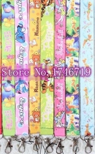 100 pcs Popular Mix Eeyore tinker bell tiger  key chains Mobile Phone Neck Straps Keys Camera ID Card Lanyard  W-207