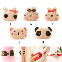 1PCS Kawaii Window Drapery Hooks Cute Curtain Tieback Fastener Poles Cute Animal rabbit/panda/cat Curtain Buckle Tiebacks Holder