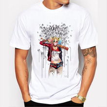 Men's Suicide Squad T Shirt Harley Quinn Joker T-Shirt Summer Style Funny HAHA Pretty Woman Print Tee Men Short Sleeve Clothing