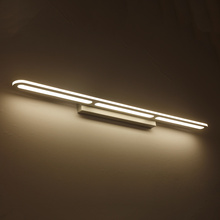 2017 NEW Modern LED Mirror front Lights Bathroom bedroom headboard wall sconce lampe deco Anti-fog espelho banheiro(China)