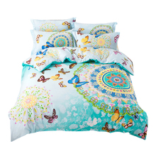 Svetanya Bohemian bedding set queen double size sheet+duvet cover+pillowcase 4pcs cotton bedlinen sets