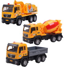 3 Types Kids Engineering vehicles Toys Metal and Plastic Scooter Power Truck Set for Birthday Gift