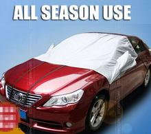 Aluminum Film Car Top Auto Snow Cover Half Size Windshield Front Window Sun Shade Visor Blind Screen All Season Protector(China)