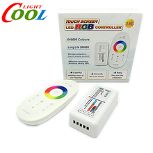 2.4G LED RGB Controller DC12-24V Touch Screen RF Remote Control for RGB LED Strip.