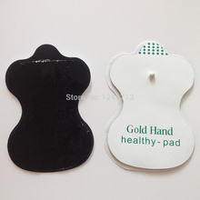 Wholesale - 100PCS English Gold Hand Health-Pad TENS Electrode Pads For massager electric body WholeSale