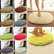 Ouneed Free Shipping Fluffy Shaggy Oval Door Mat Dust Cleaning Modern Bathroom Bath New And Soft 1PC