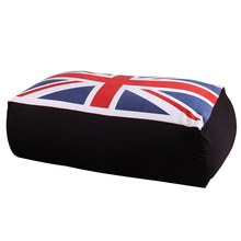 LEVMOON Beanbag Sofa Chair UK Flag Seat Zac Bean Bag Bed Cover Without Filling Indoor Beanbags Seat Chair(China)