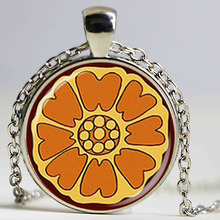 popular movie avatar the last airbender pai sho white lotus necklace fashion handmade pendant