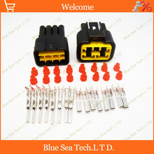 Sample,2 sets 8 Pin 2.3mm male&female Auto connector for Furukawa,Auto waterproof connector for Toyata,VW,Honda,BMW etc.