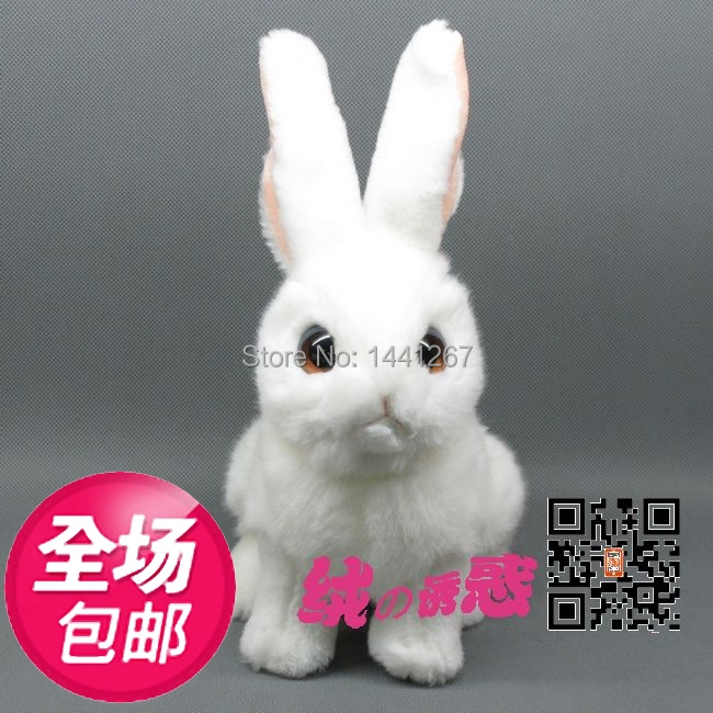 Genuine Super lovely large white eye rabbit simulation animal plush toy rabbit doll ornaments squatting<br><br>Aliexpress