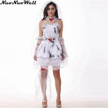 Halloween Women's Dead Beauty Ghost Bride Costume Corpse Bridal Costumes for Masquerade Carnival Party Performance(China)