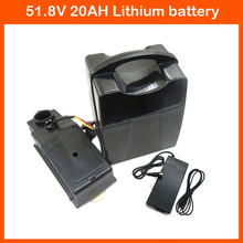 Europe no tax 51.8V 1000W Lithium battery 51.8V 20AH Electric Bike Battery 52V 20AH Bicycle battery with 30A BMS 2A charger