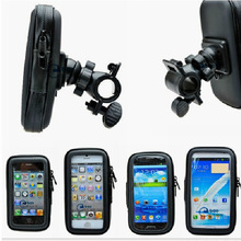 Universal Bike Bicycle Handle Phone Mount Cradle Holder Cell Phone Motorcycle Handlebar Waterproof bag Case For CellPhone(China)