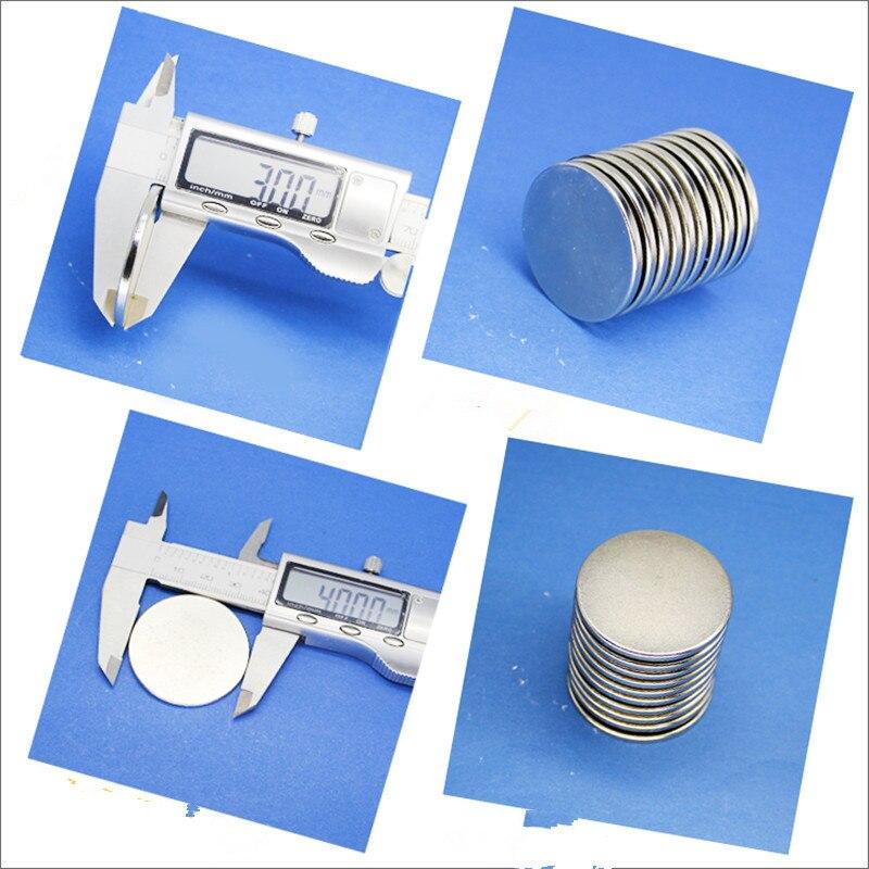 10x4mm Starke Runde Mini-Magnete Scheiben-Magnete Neodym Magnete 10pcs N52