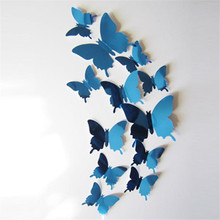 Wall Stickers Decal Butterflies 3D Mirror Wall Art Home Decors High Quality On Hot Selling New Fashional Designed Branded Decor(China)