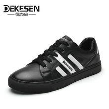Buy DEKESEN New 2017 Mens Casual Shoes 100% Genuine leather Casual shoes men Sheepskin Sneakers Spring Autumn Hip-hop mens shoes for $47.21 in AliExpress store