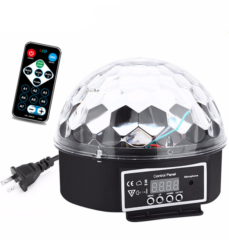DMX512 RGB Premium Sound Control Stage Light LED 18W 6LEDS RGB Magic Crystal Ball Lamp Disco Light Laser Wedding home Party laser light (16)
