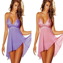 sexy lingerie hot babydoll Lace transparent halter The big swing Temptation Nightdress lingerie sexy hot erotic lenceria sexy