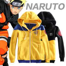 2017 Anime NARUTO 15Th Anniversary Hoodie Coat Jacket Uzumaki Naruto Cosplay Costume Casual Hooded Sweatshirt w Detachable Hat(China)