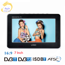 LEADSTAR D7 Portable digital TV player 7 Inch DVBT2 DVBT Analog all in one Mini tv led display Support record hd TV program