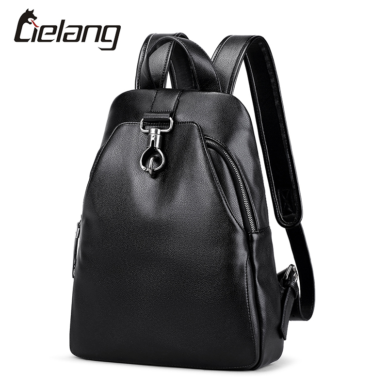 LIELANG New Mens Leather Backpacks Casual Anti-Theft Notebook Backpack 14 inch Waterproof Bags Business for Men Women Rucksack<br>