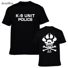 K-9 Special Unit Police Dog Foot Canine Men's Casual Shirts Summer Tops Short Sleeve 100% Cotton T-shirt(China)