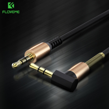 FLOVEME Audio Cable 3.5mm Jack Male to Male Stereo Audio Cable Telescopic Spring 2M Aux Cable For Phone Computer Home Theater