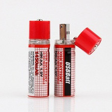 2Pcs/lot 1.2V 1450MAH USB AA Battery Rechargeable Battery AA Nimh Battery 1450MAH USB AA With LED Indicator Long Life
