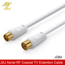 JSJ TV 9.5mm Coaxial Cable Flylead Aerial Male to Female  RF Satellite Antenna Extension Cable