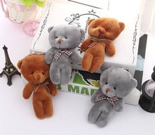 10PCS Kawaii NEW 10CM Stuffed Bear Toy Doll plush Joint Bear Wedding Bouquet GIFT TOY DOLL ; Keychain Pendant Plush Toy Doll
