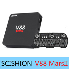 Buy SCISHION V88 Mars II Quad-core Cortex-A7 Android 6.0 TV Box 2GB RAM 8GB ROM 32Bit Wifi Smart Media Player Support 4K Video for $30.99 in AliExpress store